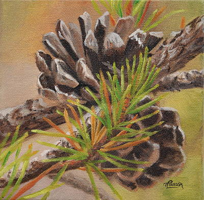 Painting - Pine Cones by Tammy  Taylor
