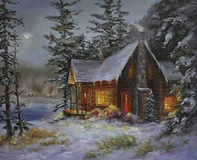 Painting - Pine Cove Cabin by Judy Bradley