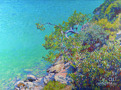 Painting - Pine In The Blue Lagoon by Simon Kozhin