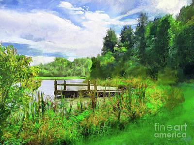 Photograph - Pine Lake Pier by Cedric Hampton