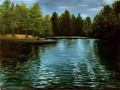 Painting - Pine Lake by Rick Fitzsimons