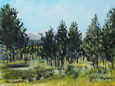 Painting - Pine Landscape No. 4 by Joseph Mora