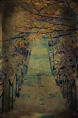 Photograph - Pine Mountain Steps Iron Mountain Michigan Fall Art by Christina VanGinkel