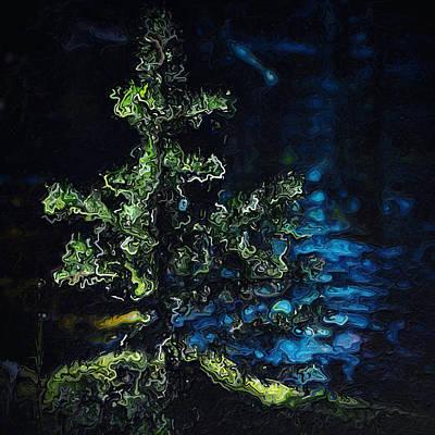 Pine On Moss By Vernal Pool Art Print
