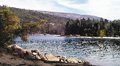 Pine Point Bass Lake Larry Darnell Art Print by Larry Darnell