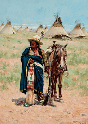 South Dakota Painting - Pine Ridge South Dakota by John Hauser