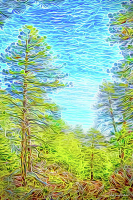 Digital Art - Pine Sky Vista by Joel Bruce Wallach