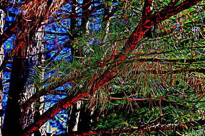 Truck Art - Pine Tree 4 by Kristalin Davis