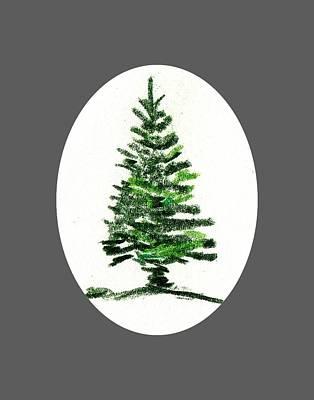 Drawing - Pine Tree by Al Intindola