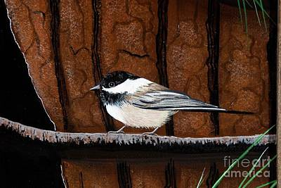 Painting - Pine Tree Chickadee by Jennifer Lake