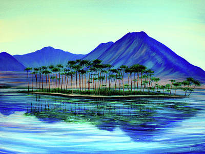 Painting - Pine Tree Island by K McCoy