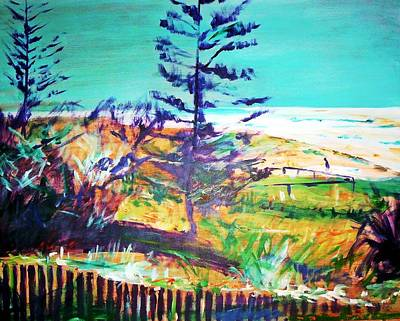 Painting - Pine Tree Pandanus by Winsome Gunning
