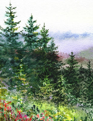 Painting - Pine Trees And Meadow  by Irina Sztukowski