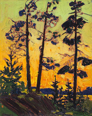 Painting - Pine Trees At Sunset by Tom Thomson