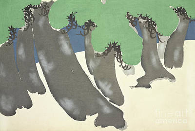 Painting - Pine Trees On The Seashore by Kamisaka Sekka