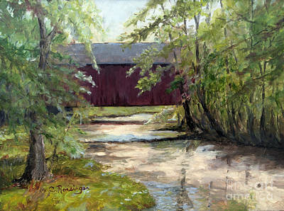 Pine Valley Covered Bridge Original by Cindy Roesinger