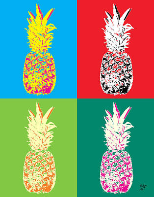 Pineapple 33 Art Print by Flo Ryan