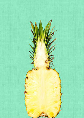 Pineapple And Green Print by Vitor Costa