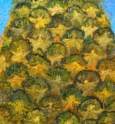 Angels Painting - Pineapple Angels by Anne Cameron Cutri