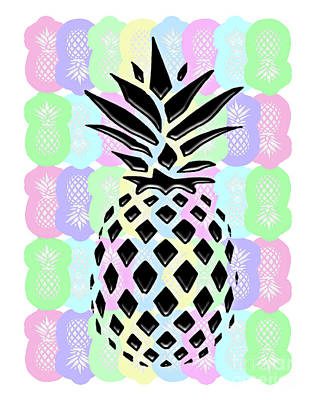 Pineapple Collage Art Print