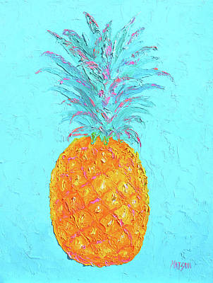 Painting - Pineapple Delicious And Luscious by Jan Matson