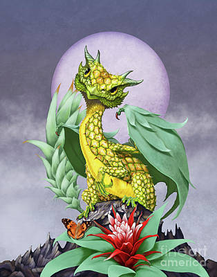 Pineapple Dragon Art Print by Stanley Morrison