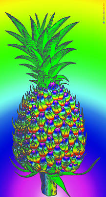Digital Art - Pineapple by Eric Edelman