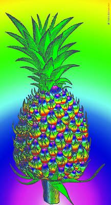 Mature Digital Art - Pineapple by Eric Edelman