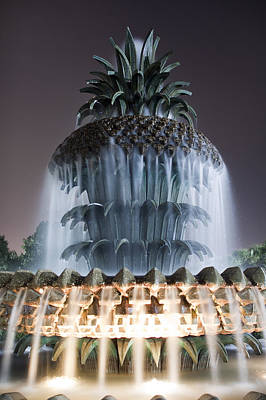Pineapple Fountain Charleston Sc Original by Dustin K Ryan