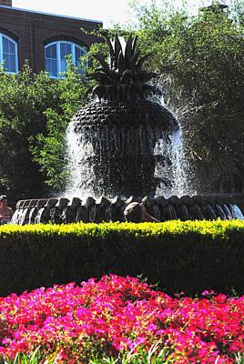 Water Photograph - Pineapple Fountain Charleston Sc by Susanne Van Hulst