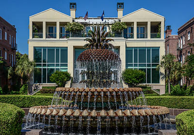 Photograph - Pineapple Fountain by Debra Martz