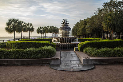 Photograph - Pineapple Fountain In Waterfront Park Charleston  by John McGraw