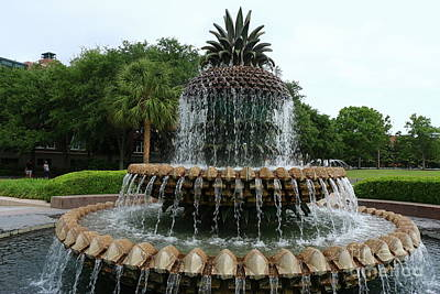 Photograph - Pineapple Fountain River Park  by Christiane Schulze Art And Photography