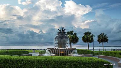 Photograph - Pineapple Fountain Sky by Walt Baker