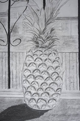 Pineapple In Window Art Print