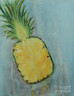 Painting - Pineapple by Jane See