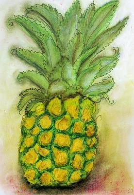 Pineapple Mixed Media - Pineapple  by Joely  Rogers