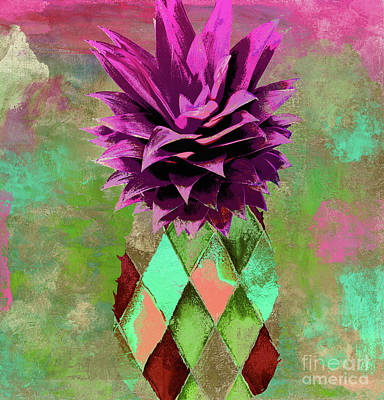 Tropical Fruit Painting - Pineapple Juice II by Mindy Sommers