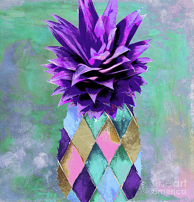 Juice Painting - Pineapple Juice by Mindy Sommers