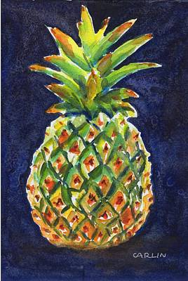 Painting - Pineapple Juicy by Carlin Blahnik