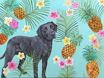 Wall Art - Painting - Pineapple Lab by Carol Iyer