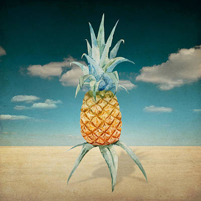 Shower Curtain Digital Art - Pineapple  by Mark Ashkenazi