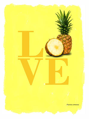 Pineapple Art Print by Mark Rogan