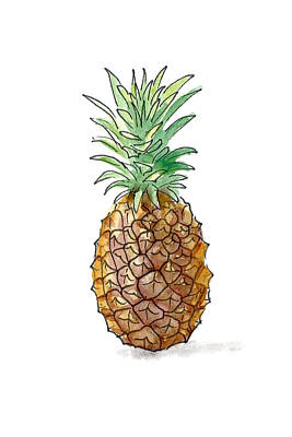 Painting - Pineapple by Masha Batkova