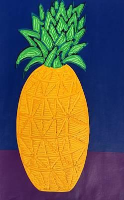 Painting - Pineapple by Matthew Brzostoski