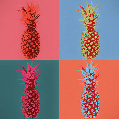 Mixed Media - Pineapple Pop Art by Dan Sproul