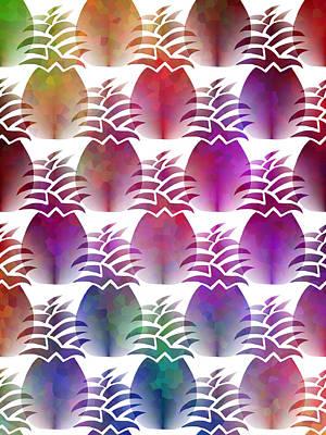 Pineapple Mixed Media - Pineapple Repeat by Kathleen Sartoris