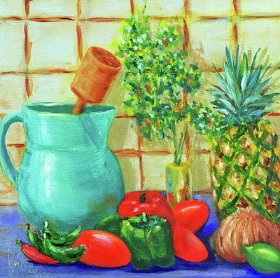 Painting - Pineapple Salsa by Vicki VanDeBerghe