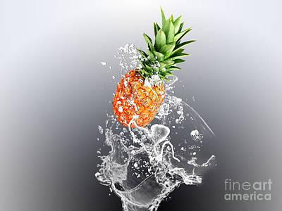 Pineapple Mixed Media - Pineapple Splash by Marvin Blaine
