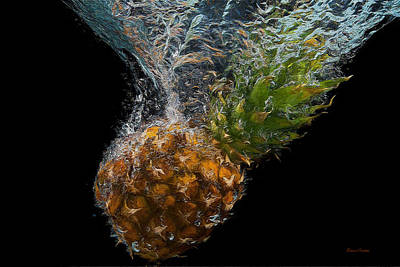Painting - Pineapple Splash - Painting by Ericamaxine Price